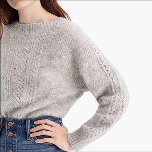 J Crew Point Sur pointelle sweater